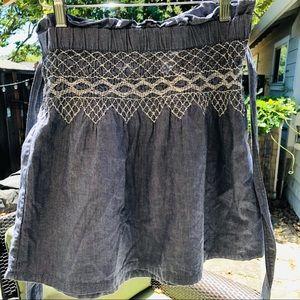 Current Elliott chambray belted skirt sz 0